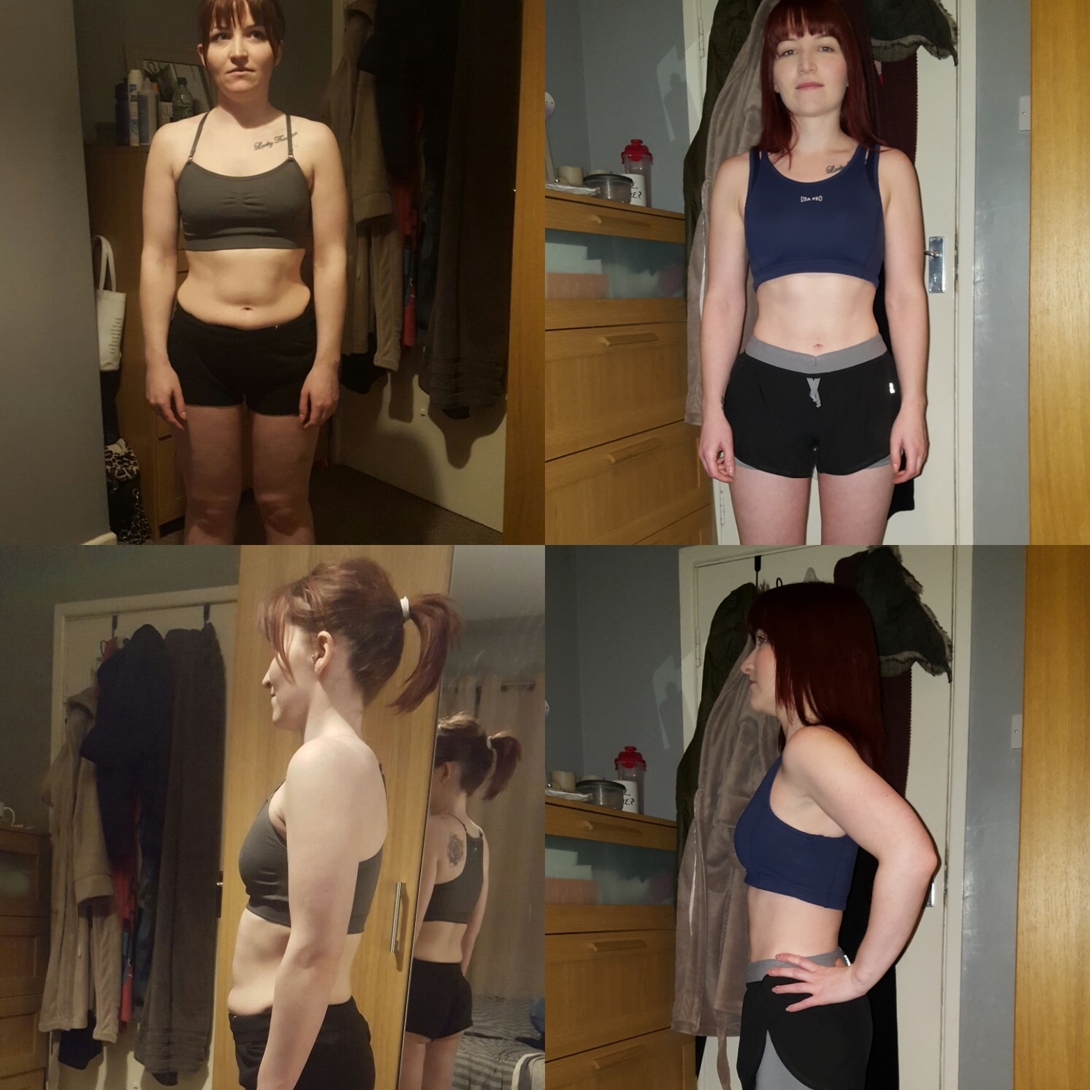 Pictures of Wee Jen Ken showing a comparison of before and after six months of training at the gym